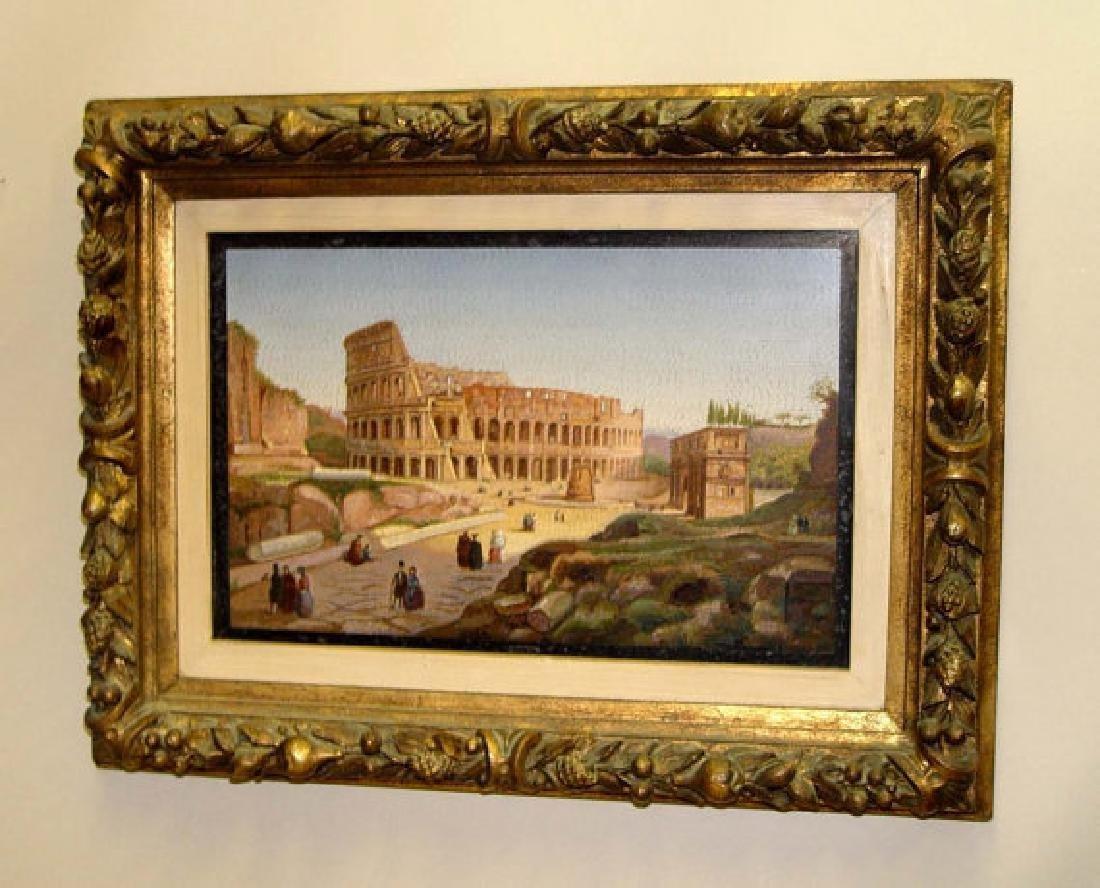 Micromosaic Plaque Colosseum Rome Grand Tour Circa 1870