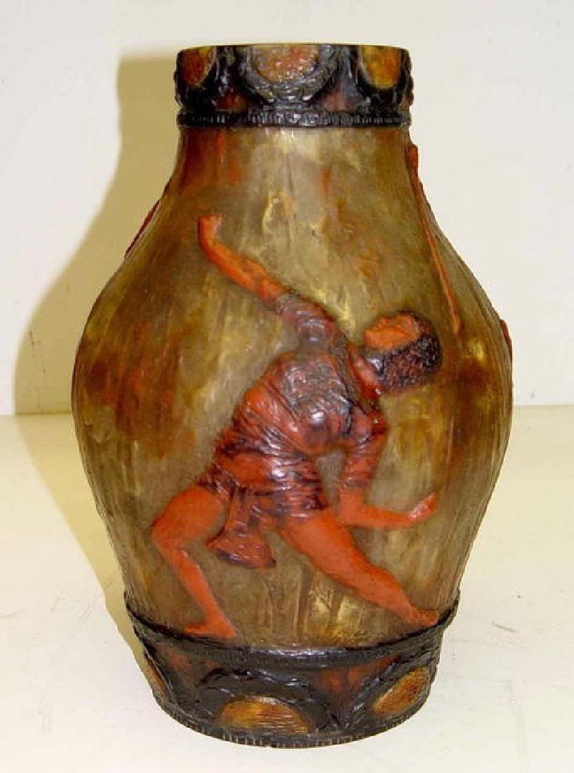 Art Deco Argy Rousseau Pate De Verre Art Glass Lamp