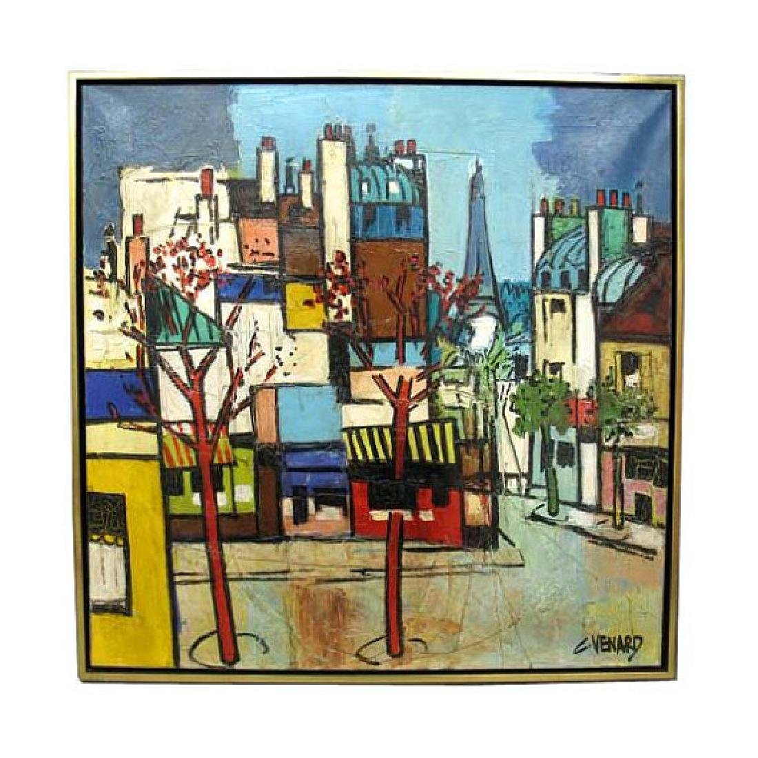 Authentic Claude Venard Modern Impressionist Eiffel