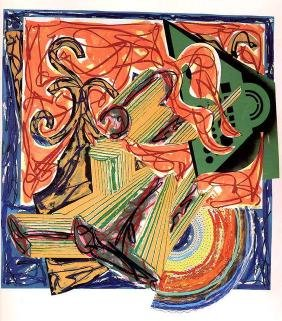 Frank Stella Collage Painting Modern Butcher Ox Mixed