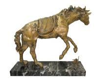 Dali Salvador Le Cheval A La Montre Molle Bronze