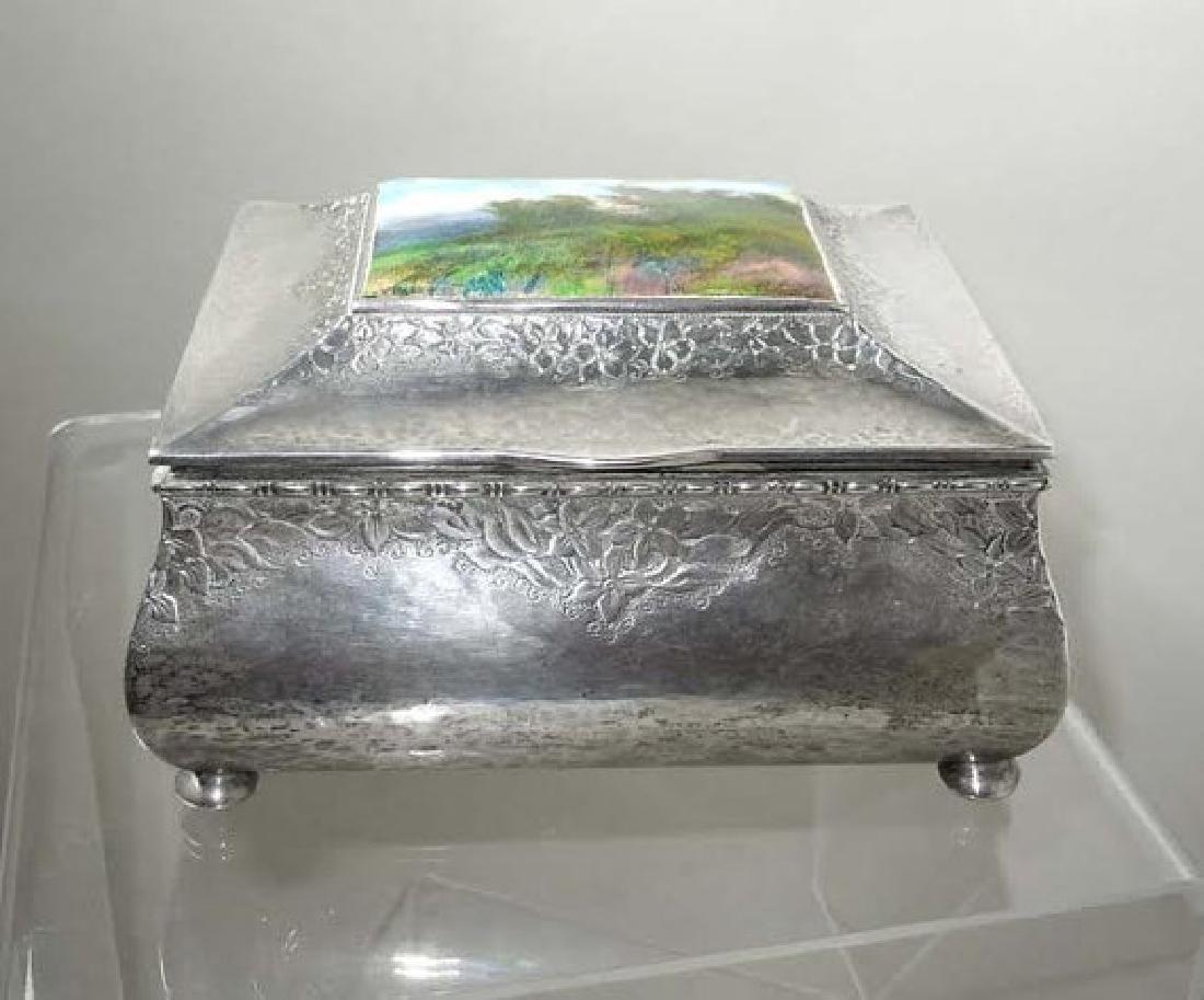 1924 Swedish Silver Jewelry Box G. A. Dahlgren With