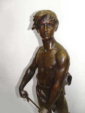 Raoul Larche 19th Century French Bronze Vingt Ans Semi