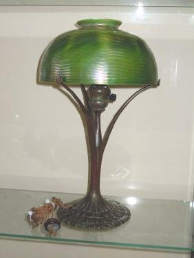 Rare Tiffany Studios New York Favrile Glass and Bronze
