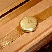 Mens 18kt Gold Vacheron Constantin Wristwatch W Watch