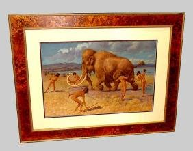 William Hutton Riddell Hunting Woolly Mammoth