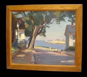 New England Street Emile Albert Gruppe 1950 Oil