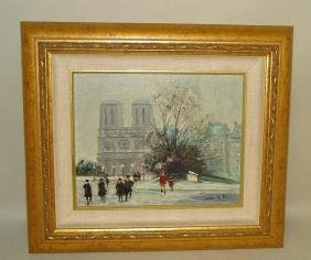Jules Rene Herve Oil Painting Notre Dame Winter Paris