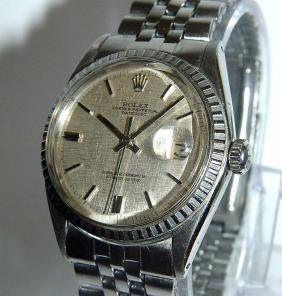 Mens Stainless Steel Rolex Datejust Automatic Satin