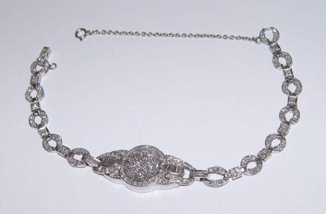 Ladys Art Deco Platinum 1.5ct Diamond Fashion Bracelet