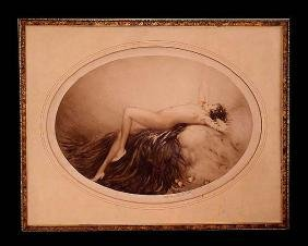 1928 Louis Icart Eve Reclining Female Nude Litho