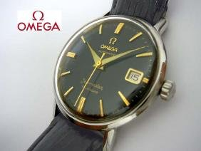 Mens Omega Seamaster Automatic Calendar Black Stick