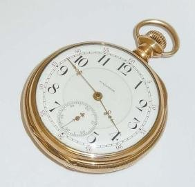 Antique 14Kt Gold Waltham 1896 Pocket Watch 21 Jewel