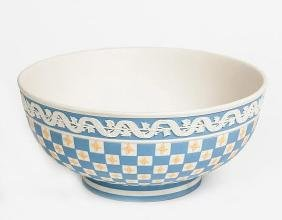 Wedgwood Tri Colour Dice Ware Footed Bowl Museum