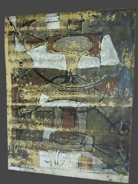 Alberto Sartoris Abstract Expressionist Mixed Media on