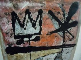 Alberto Sartoris Abstract Expressionist Oil Mixed Media