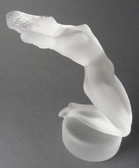 Lalique France Chrysis Art Glass Nude Girl Car Mascot