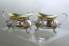 2 Pc Vermeil Gold Wash Sterling Silver Sugar Creamer