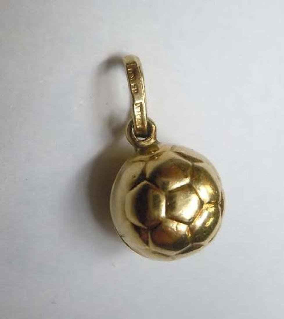 14kt Gold Soccer Ball Charm Pendant Football