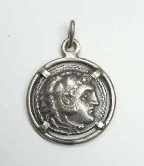Sterling Silver Ancient Greece Style Replica Greek Coin