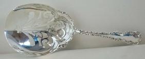 Massive Antique 1891 Victorian Sterling Silver Serving
