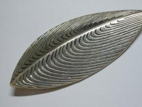 Danish Modern Sterling Leaf Brooch AM Anton Michelsen