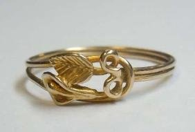 14kt Gold Wild Orchid Flower Love Knot Ring