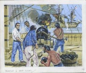 John Smith Ingouville In Naval Action Illustration Art