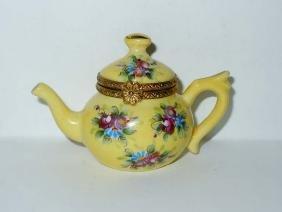 Limoges France Miniature Tea Pot Kettle Porcelain