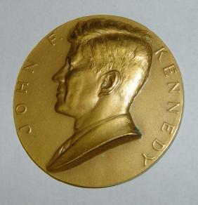 John F Kennedy Bronze Inauguration Medallion Medal