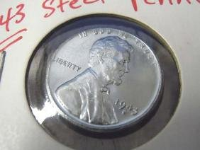 1943s Lincoln Wheat Steel Cent War Penny MS Mint State