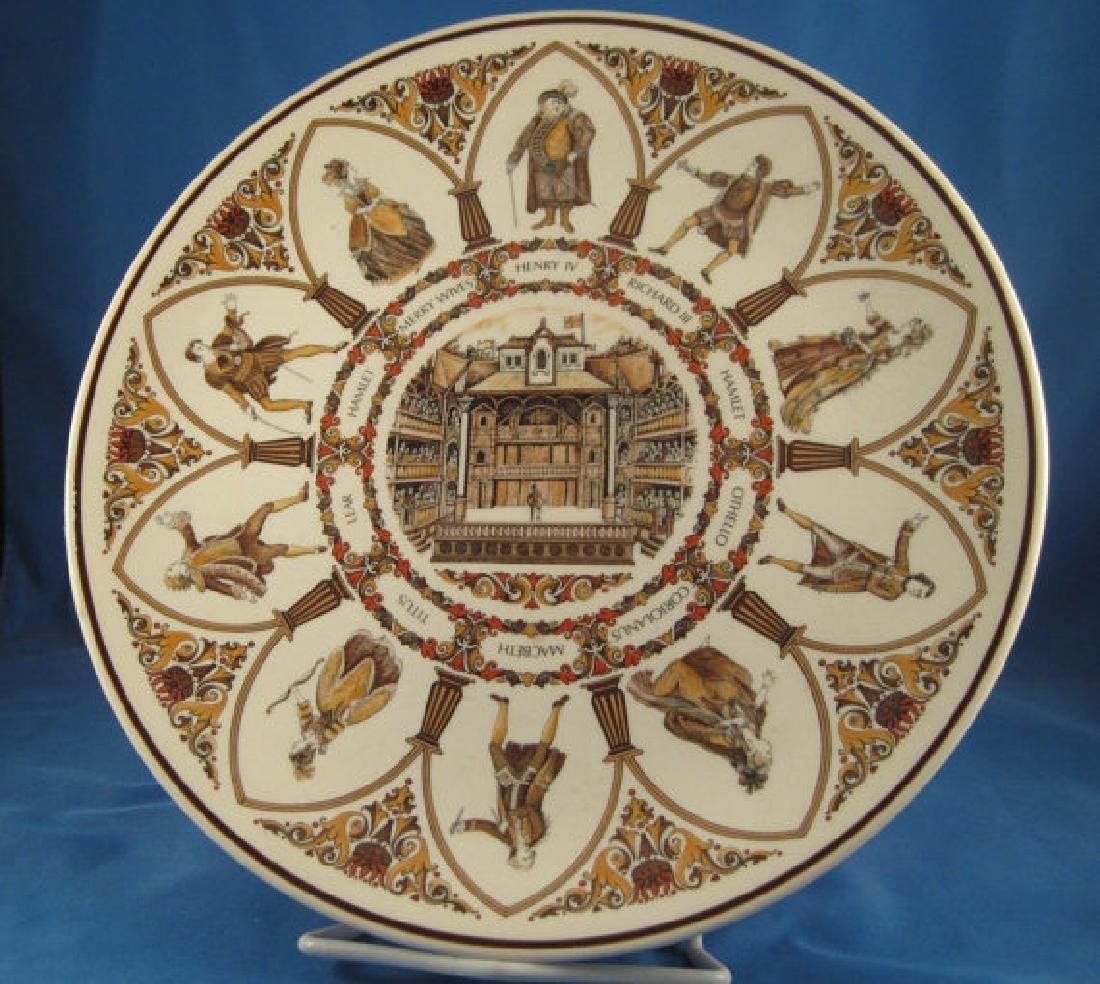 Wedgwood Characters of Shakespeare Plays Plate Queen's
