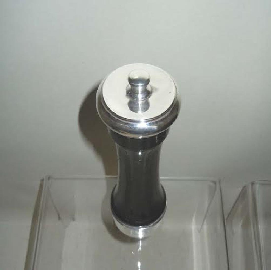 Rare Tall Pepper Grinder Sterling Silver Ebonized or