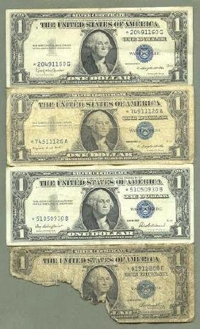 14 One Dollar Blue Seal Green Seal STAR Notes in