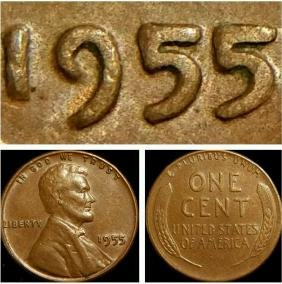 1955-P DDO-003 AU Lincoln Wheat Cent A Very Nice