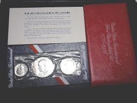 1976 Bicentennial Silver Uncirvulated Set Quarter Half