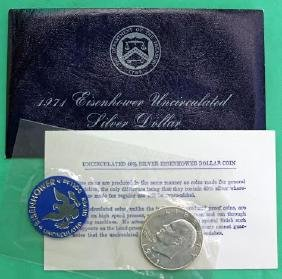 1971-S Uncirculated Eisenhower 40 Percent Silver Dollar