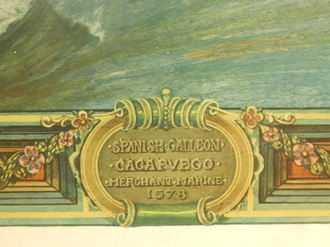 Paul Farnham (After): Spanish Galeon 1926 Lithograph - 4