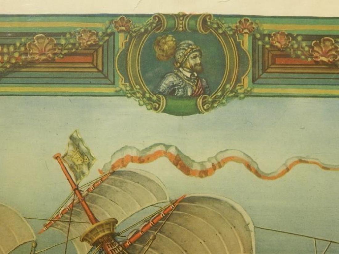 Paul Farnham (After): Spanish Galeon 1926 Lithograph - 6