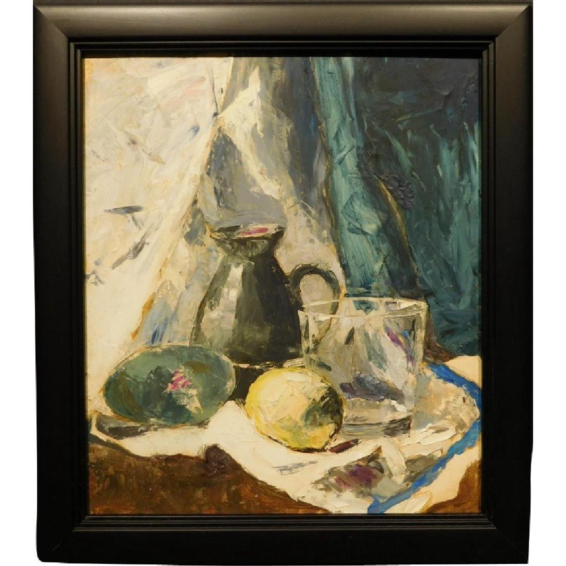 1960's Abstract Still Life Oil Painting