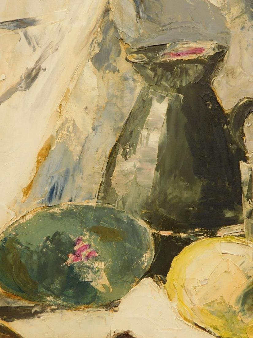 1960's Abstract Still Life Oil Painting - 3