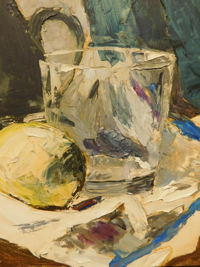 1960's Abstract Still Life Oil Painting - 4