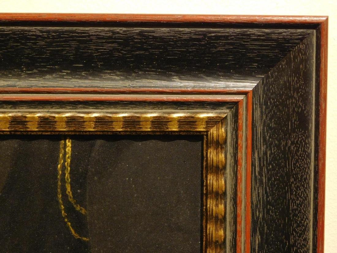 Hands and Book, Antique oil painting fragment - 5