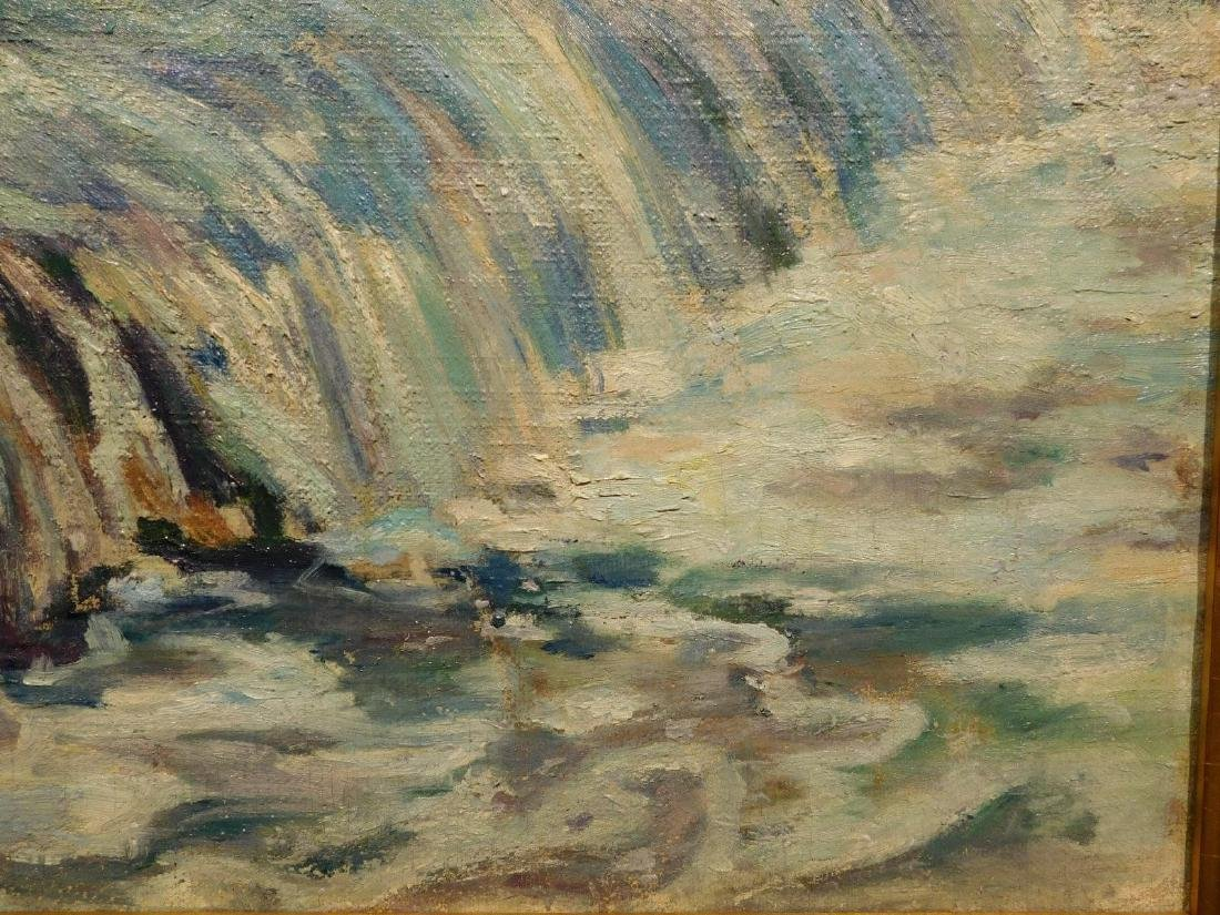 E.A.Barck, Waterfall oil painting c. 1940 - 5