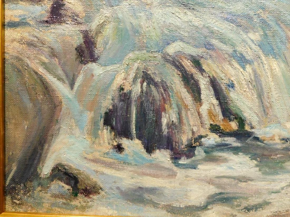 E.A.Barck, Waterfall oil painting c. 1940 - 6