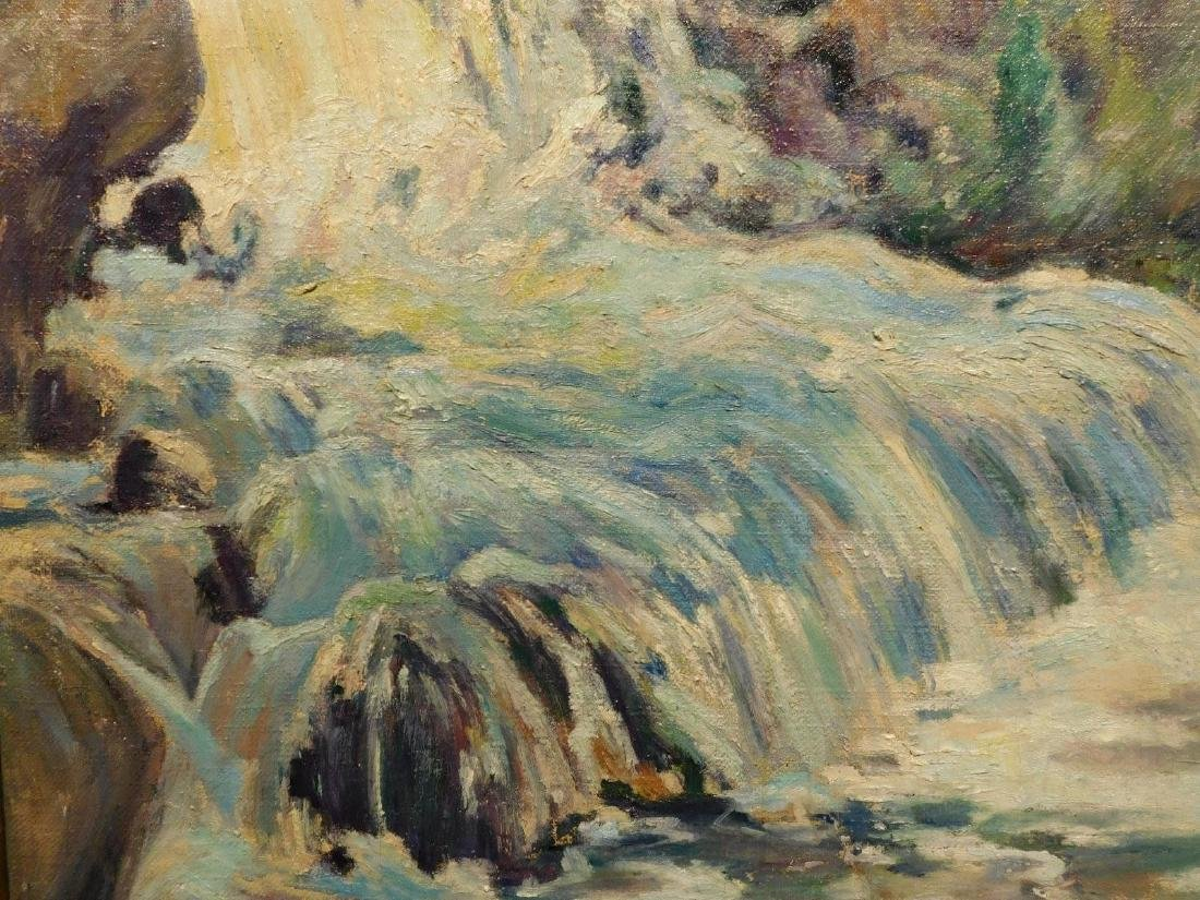 E.A.Barck, Waterfall oil painting c. 1940 - 7