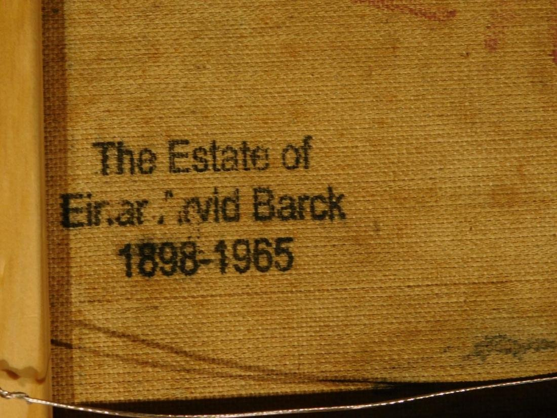 E.A.Barck, Waterfall oil painting c. 1940 - 8