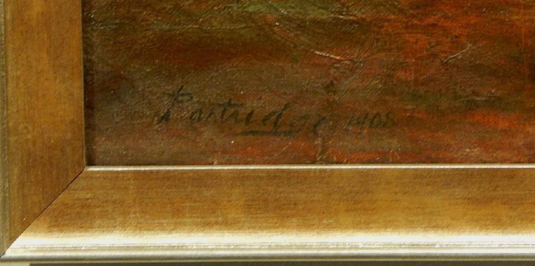 Sunlit Woodland Path 1908 Oil Painting Signed Partridge - 5