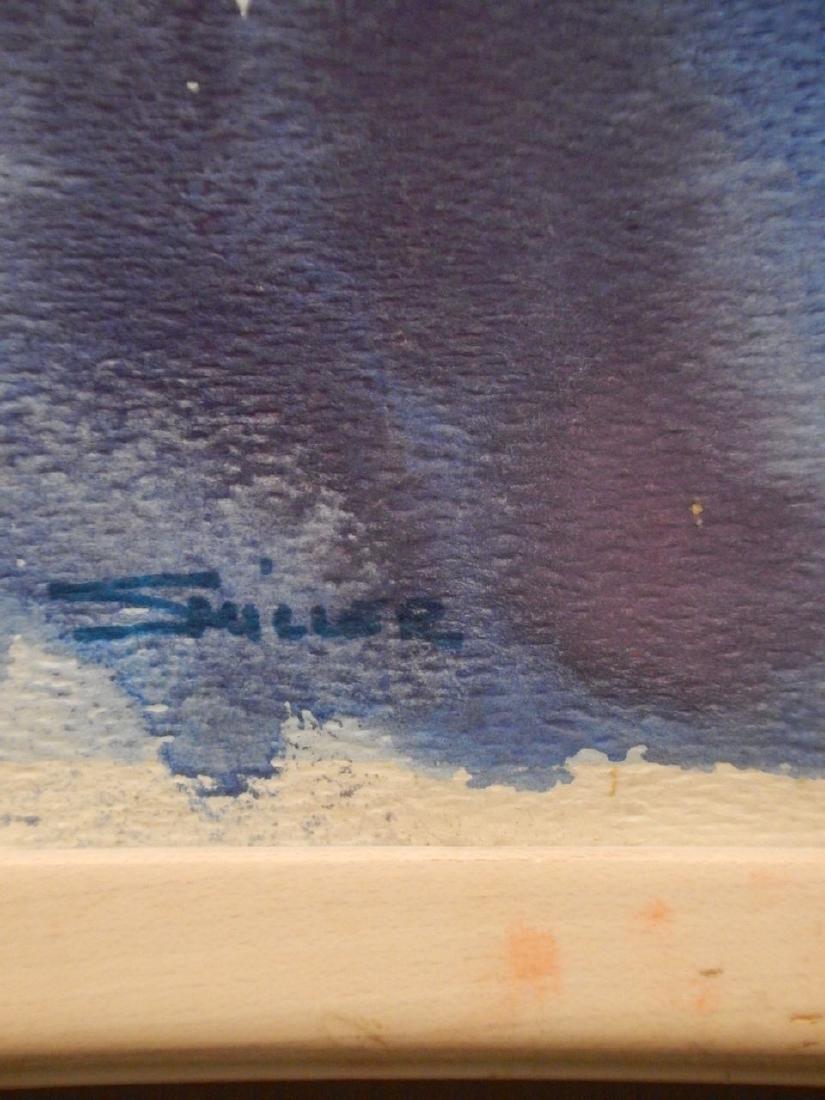 Blue Woman Watercolor Portrait By S. Miller - 7