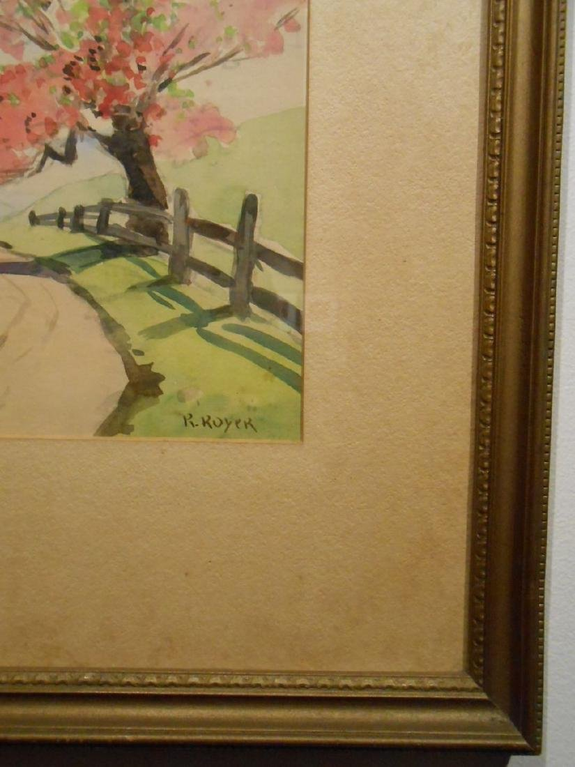 1920's Springtime Watercolor Signed Royer - 5